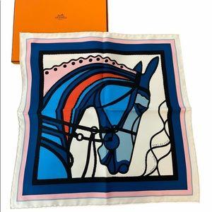 Hermes Gavroche Robe Du Soir Pop Silk Scarf 45